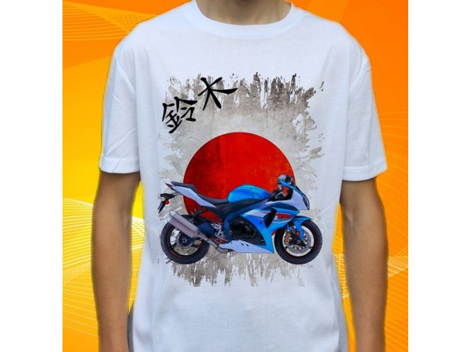 Dětské a pánské tričko s motorkou Suzuki GSXR1000