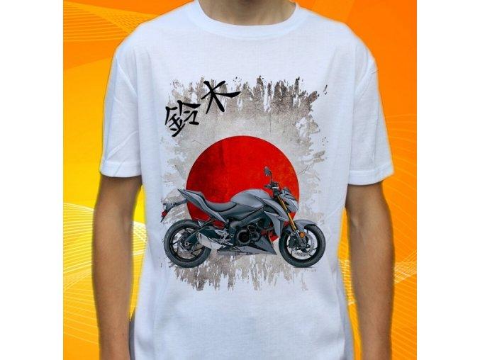 Dětské a pánské tričko s motorkou Suzuki GSXS1000