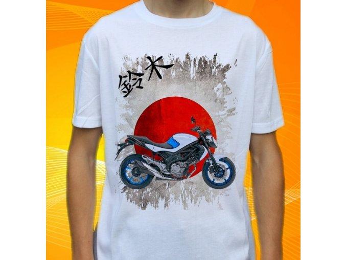 Dětské a pánské tričko s motorkou Suzuki SFV650