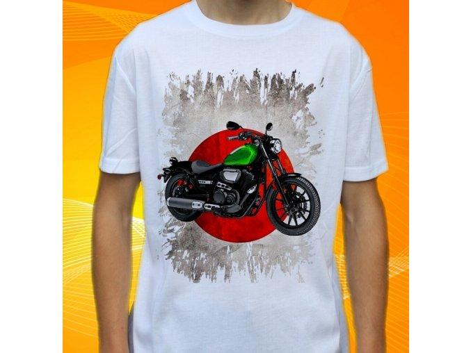 Dětské a pánské tričko s motorkou Yamaha Star Bolt