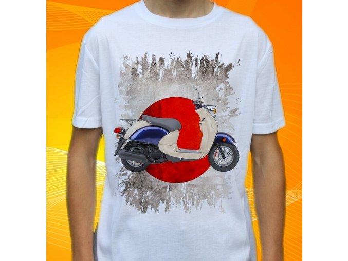 Dětské a pánské tričko s motorkou Yamaha Vino 50