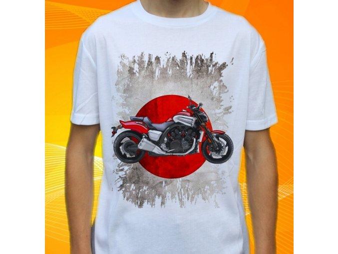 Dětské a pánské tričko s motorkou Yamaha VMX17