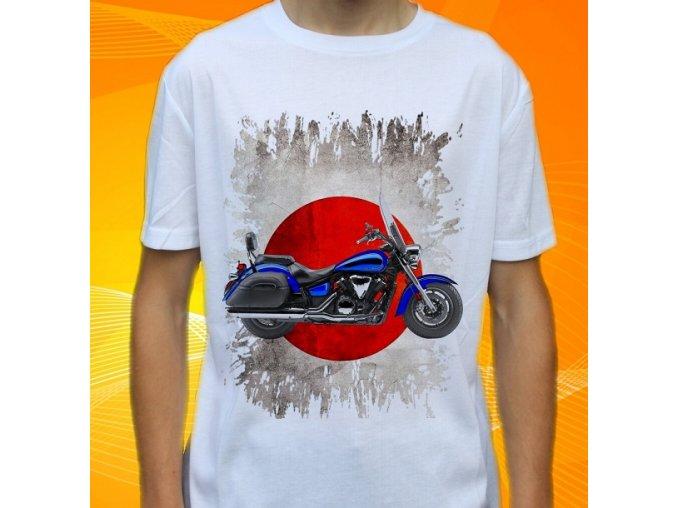 Dětské a pánské tričko s motorkou Yamaha V-star 1300 Tourer