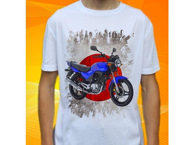 Dětské a pánské tričko s motorkou Yamaha YBR125