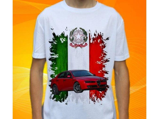 Dětské a pánské tričko s autem Alfa Romeo 159