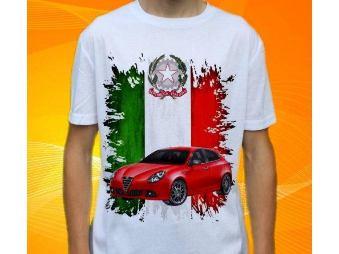 Dětské a pánské tričko s autem Alfa Romeo Giulietta