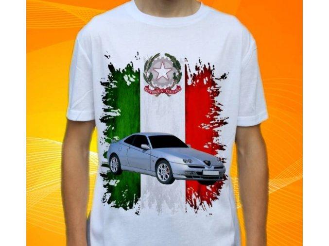 Dětské a pánské tričko s autem Alfa Romeo GTV