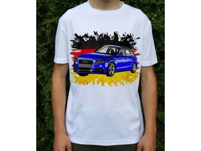 Dětské a pánské tričko s autem Audi A4 Avant