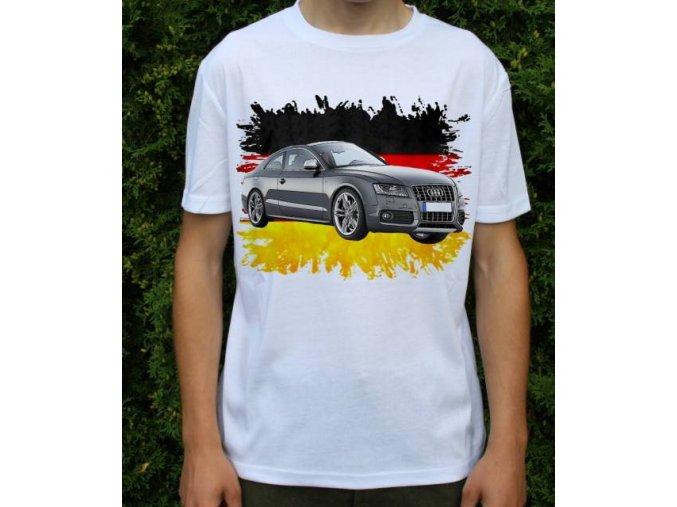Dětské a pánské tričko s autem Audi S58