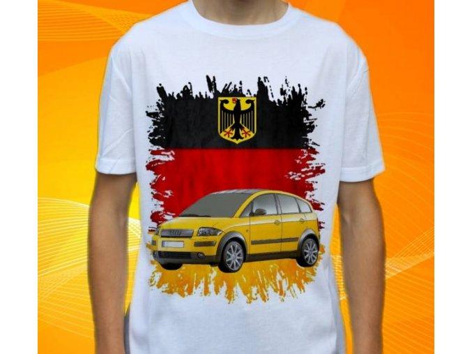 Dětské a pánské tričko s autem Audi A2