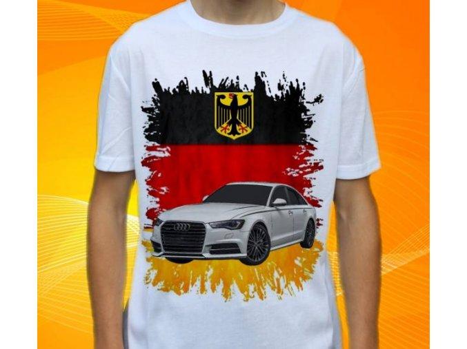 Dětské a pánské tričko s autem Audi A6