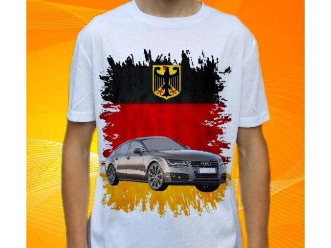 Dětské a pánské tričko s autem Audi A7 Sportbackh