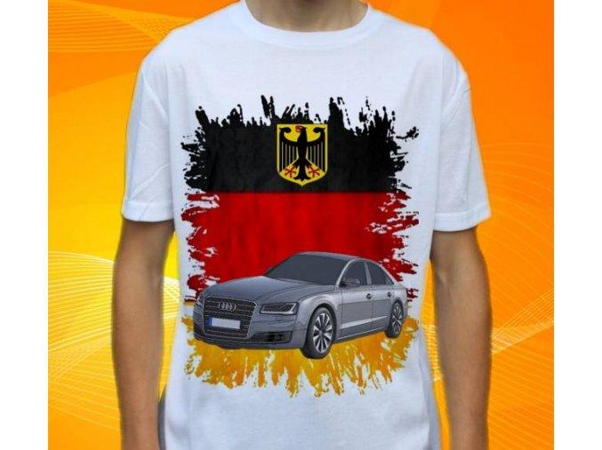 Dětské a pánské tričko s autem Audi A8