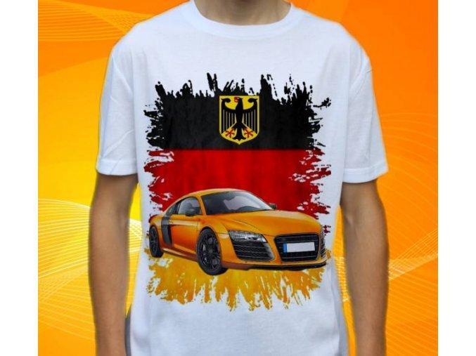 Dětské a pánské tričko s autem Audi R8