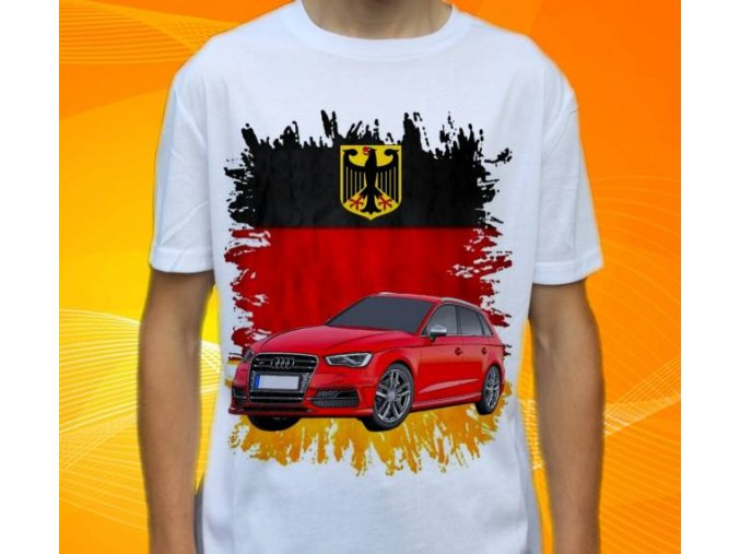 Dětské a pánské tričko s autem Audi S3 Sportbackh