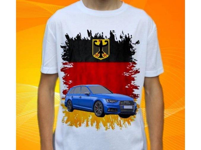 Dětské a pánské tričko s autem Audi S4 Avant