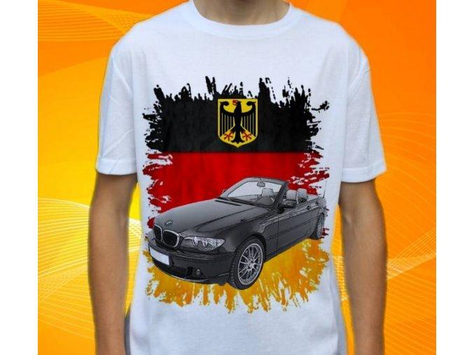 Dětské a pánské tričko s autem BMW 3-311CI Cabrio GERMANY