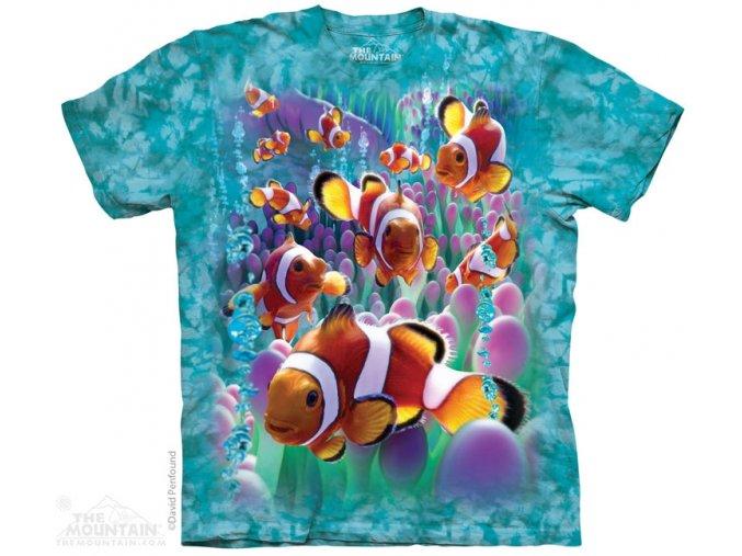 tričko, rybička, klaun, potisk, mountain, dětské