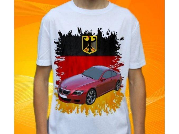 Dětské a pánské tričko s autem BMW E63