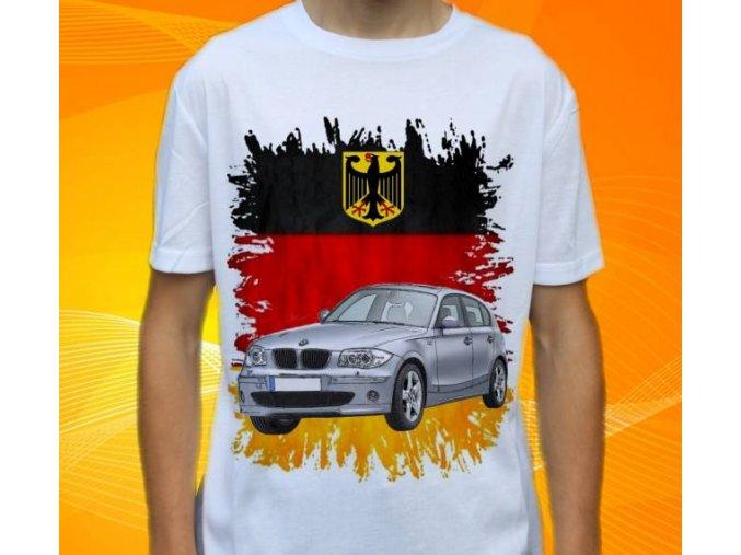 Dětské a pánské tričko s autem BMW E87
