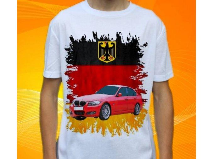 Dětské a pánské tričko s autem BMW E90