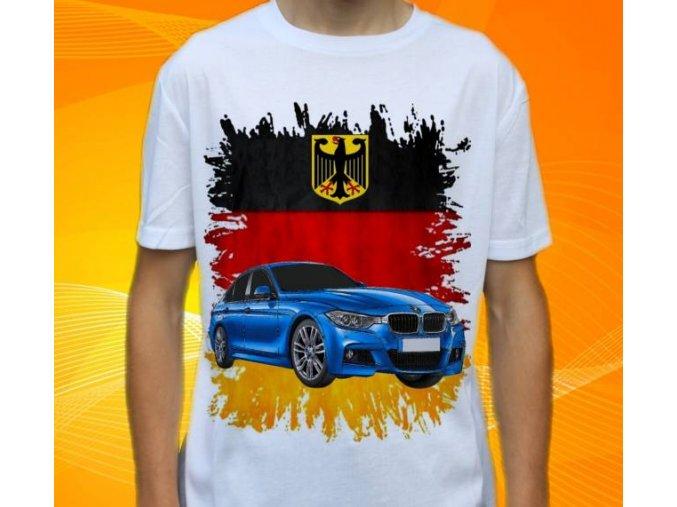 Dětské a pánské tričko s autem BMW F30