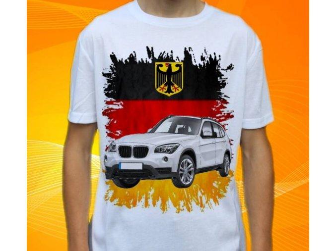 Dětské a pánské tričko s autem BMW X1