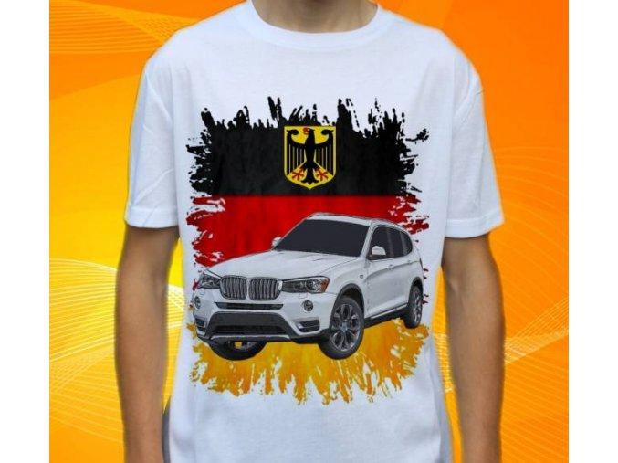Dětské a pánské tričko s autem BMW X3
