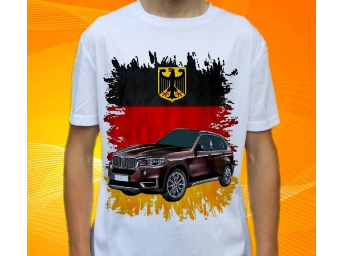 Dětské a pánské tričko s autem BMW X5