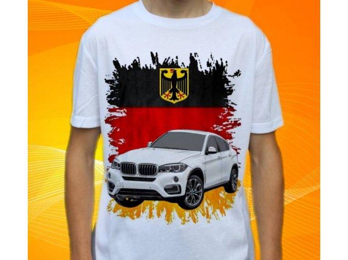 Dětské a pánské tričko s autem BMW X6