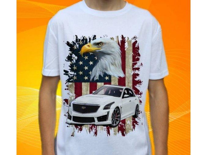 Dětské a pánské tričko s autem Cadillac CTS