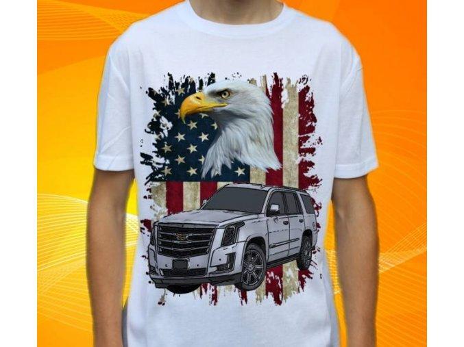 Dětské a pánské tričko s autem Cadillac Escalade