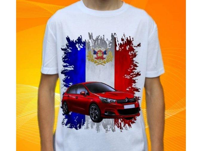 Dětské a pánské tričko s autem Citroen C4