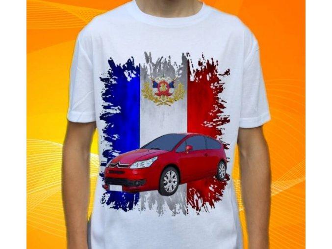 Dětské a pánské tričko s autem Citroen C4 Coupe