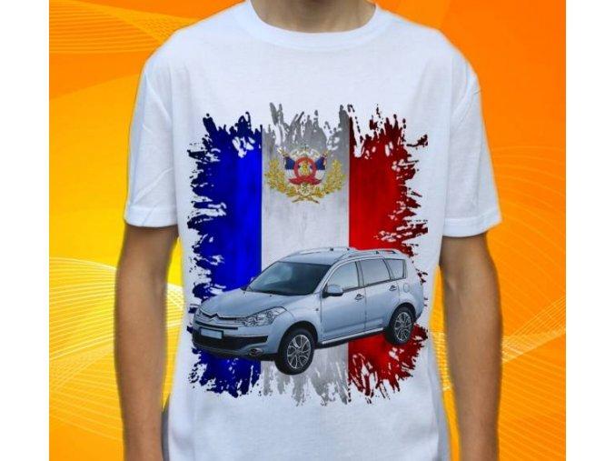 Dětské a pánské tričko s autem Citroen C Crosser