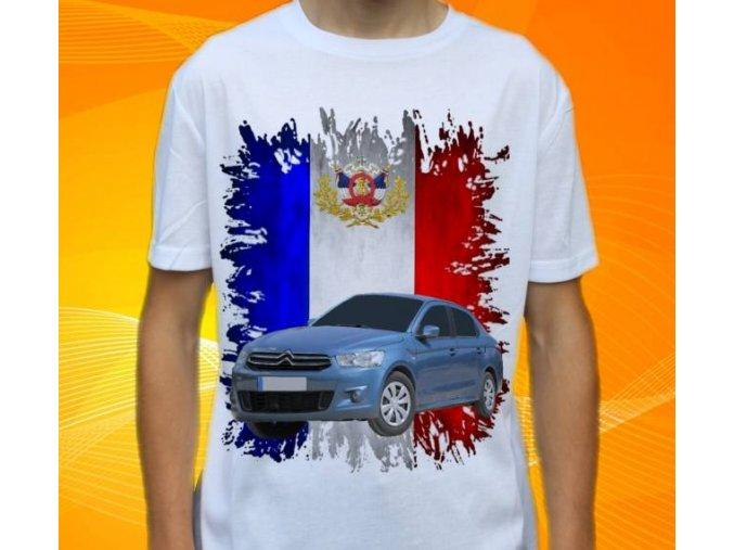 Dětské a pánské tričko s autem Citroen C Elysee