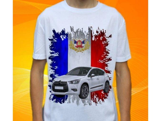 Dětské a pánské tričko s autem Citroen DS4