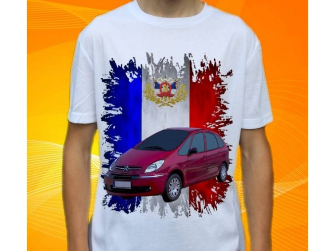 Dětské a pánské tričko s autem Citroen Xsara Picasso