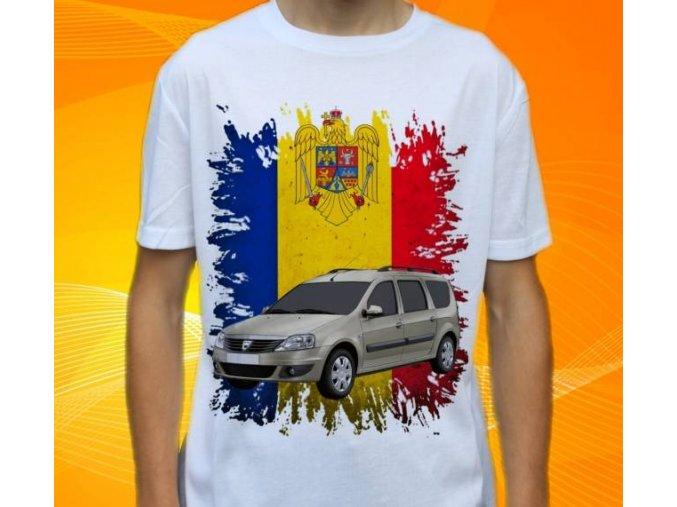 Dětské a pánské tričko s autem Dacia Logan MCV