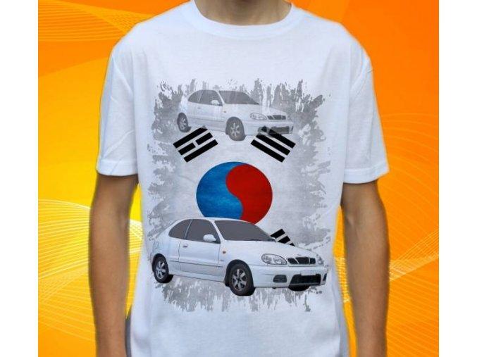 Dětské a pánské tričko s autem Daewoo Lanos
