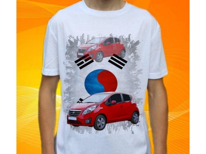 Dětské a pánské tričko s autem Daewoo Matiz 2015