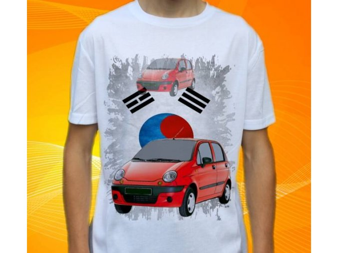 Dětské a pánské tričko s autem Daewoo Matiz