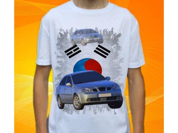 Dětské a pánské tričko s autem Daewoo Nubira