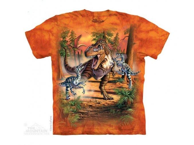 dětské tričko-dinosauři-potisk-mountain-batika-bavlna