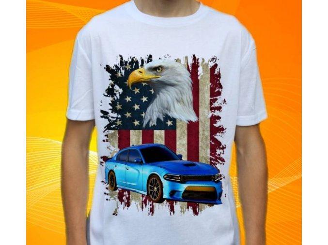 tričko s autem Dodge Chatger 2015