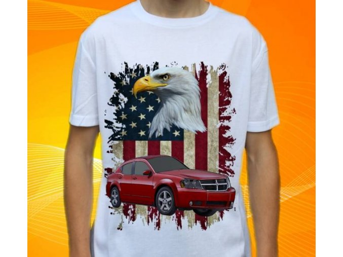 tričko s autem Dodge Avenger