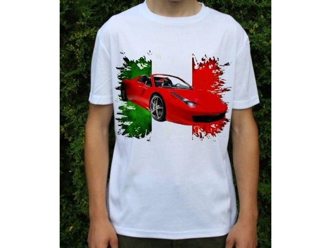 Dětské a pánské tričko s autem Ferrari