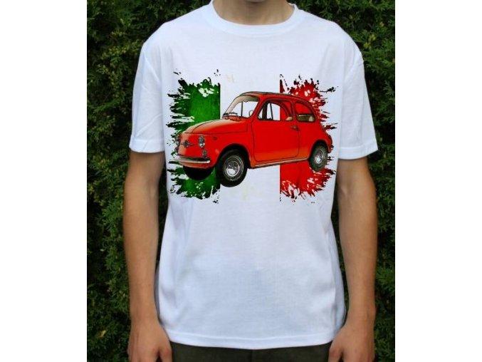 Dětské a pánské tričko s autem Fiat 500