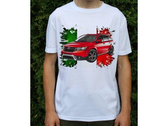 Dětské a pánské tričko s autem Fiat Freemont Cross 2015