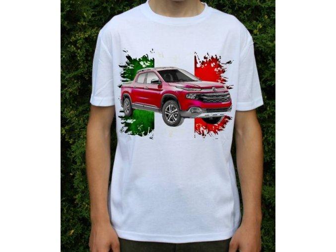 Dětské a pánské tričko s autem Fiat Toro 2016